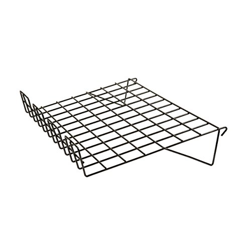 Gridwall Shelf - Econoco BLK/SL22 Sloping Shelf with 3