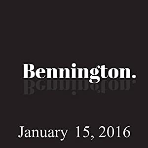 Bennington, January 15, 2016 Radio/TV Program
