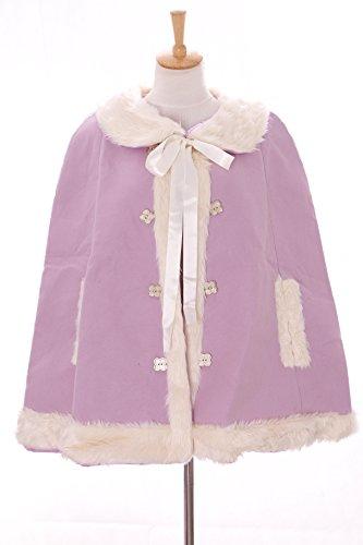 TS-84-1 Lila Flieder Cape Umhang Lolita Woll-Jacke Pastel Goth Harajuku Japan Kawaii-Story