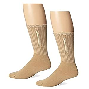 2 Pack Travelon Security Socks,Large,Tan