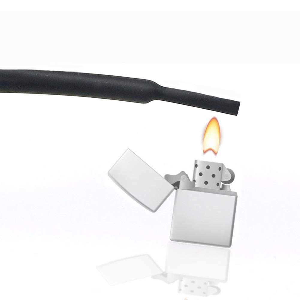 Black, 208Pcs 3:1 Heat Shrink Tubing Dual Wall Adhesive Heat Shrink Tube Kit 6 Sizes Tubing Set Premium Electrical Wire Cable Wrap Sleeve Tube Assortment with Storage Box
