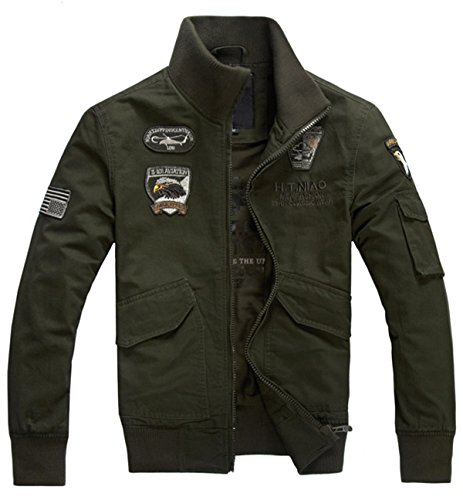 VSVO Men's Lightweight Military Style Air Force Jacket (X-Large, A Army ()