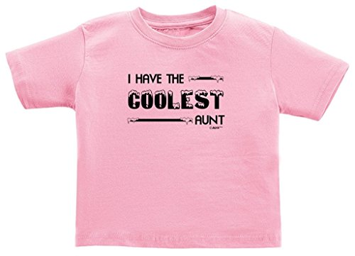 I Have The Coolest Aunt Toddler T-Shirt 3T Pink