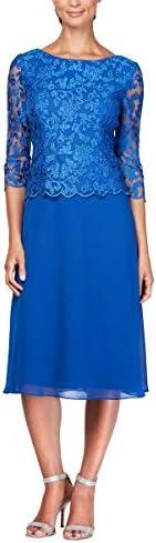 Alex Evenings Womens Sequin Dress