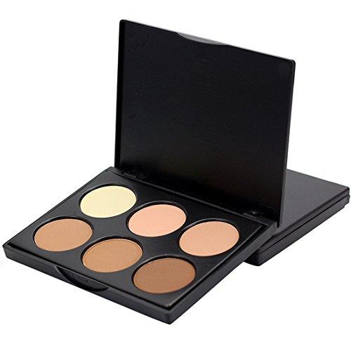 Loweryeah 6 Color Repair Capacity Powder Shadow Highlight Shadow Nose Shadow Modification Brightens Dark Circles Mini ()