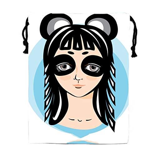 Girl In Panda Costume Original Shoulder Bag Pumping Rope Backpack