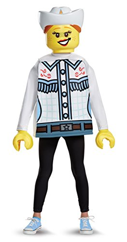 Disguise Lego Cowgirl Classic Costume, Multicolor, Large (10-12)]()