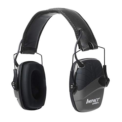 Howard Leight by Honeywell Impact Sport Sound Amplification Electronic Shooting Earmuff, Black (R-02524) (Renewed)