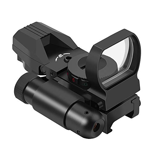 Big Save! Feyachi Reflex Sight - 4 Reticle Red & Green Dot Sight Optics with Integrated Red Laser Si...