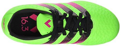 adidas Ace 16.3 FG/AG J, Botas de Fútbol Unisex Bebé Verde / Rosa / Negro (Versol / Rosimp / Negbas)