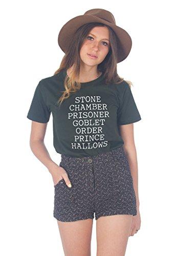 en's Stone Chamber Prisoner Harry Potter Tshirt Large Green ()