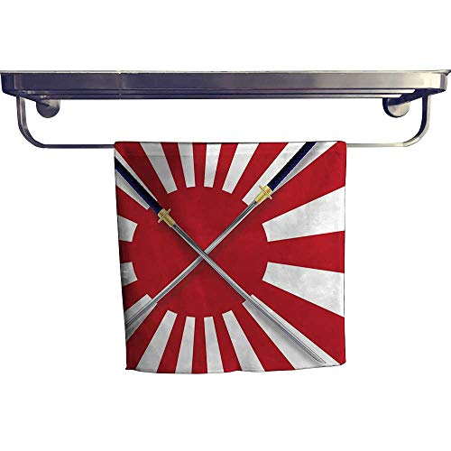 - Leigh home Dry Fast Towel, Sun spired Japan Flag L NATI al Warrior Swords Red White ,Gym Swim Hotel Use W 20