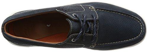 Clarks Détente Homme Chaussures Unmaslow Edge En Nubuck Bleu