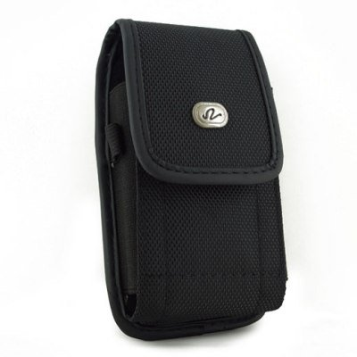 Black Vertical Heavy Duty Rugged Cover Belt Clip Side Case Pouch For Nokia C3-00 C-3 (C300 Holster)