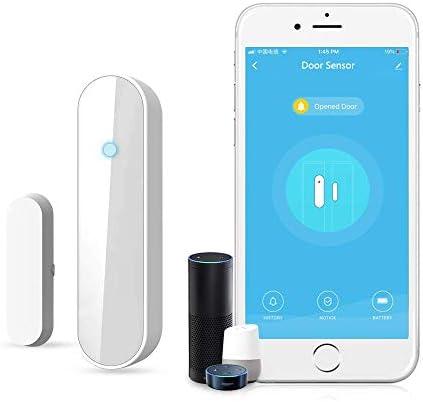 Newgoal Multifunctional Door and Window Sensor Open Smart WiFi Sensor Contact Door and Window Sensor CompatibleAlexa Google Home IFTTT