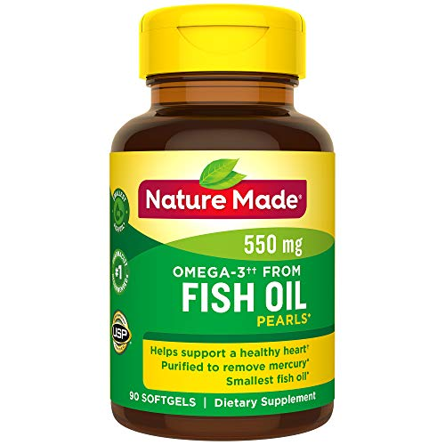 Nature Made Fish Oil Pearls 500 Mg Softgel, 90 Count (Best Cure For Upset Stomach And Vomiting)