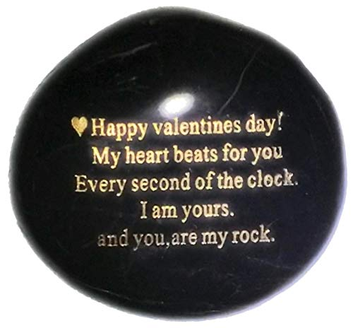 Probably the Best Valentines Day Gift you can buyHappy Valentines Day! My heart Beats for you Every second of the clock. I am yours. And you, are my rock - Engraved Rock