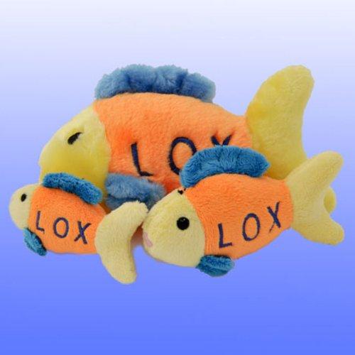 Plush Lox Fish Chewish Squeak Treat Animal Pet Toy - Small Size ()