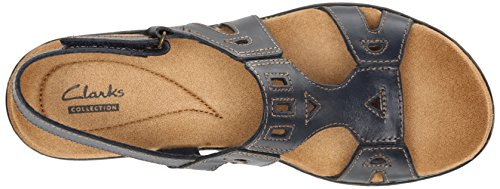 Women Navy Leisa Sandal CLARKS Annual Fw86dR