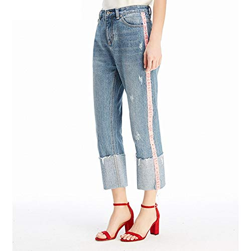gestreiften Jeans Jeans M MVGUIHZPO Femme Lose Neue Punkt Bequeme Jeans Cowboy neun gestreiften tWvqwa