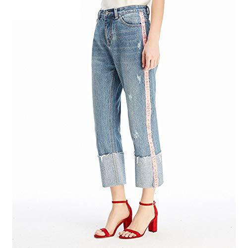 Nuovi Xl Nove Larghi A Jeans S Blu Punti Comodi Strisce Chiaro Donna Mvguihzpo U1ERxqn