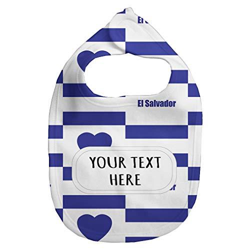 Baby Fleece Bib Custom El Salvador Flag Heart Pattern Unisex Children, One Size