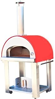 product image for Grande32 Portable Wood Fired Pizza Oven Cart - Red