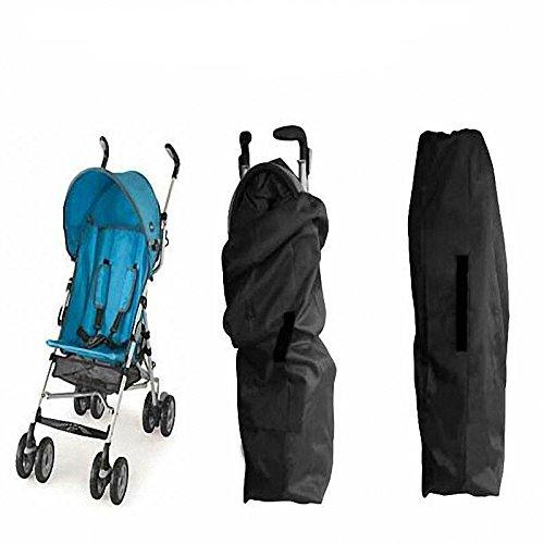 Hrph Infantil del bebé puerta de niño controlar la carrera del paraguas estándar doble Cochecito Cochecito Cochecito Bolsa carro de bebé del cochecillo de la cubierta