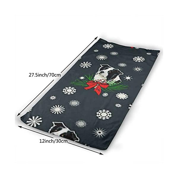 Border Collie Christmas Soft Cotton Large Hand Towel- Multipurpose Bathroom Towels for Hand, Face, Gym and Spa 4