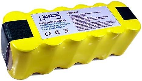 Batería Hannets® compatible con iRobot Roomba 555 I Batería i-Robot Batería Roomba Batería Aspiradora robotizada I Roomba 555 Accesorios 4500mAh Batería Robot de succión Batería de repuesto 14,4 V: Amazon.es: Hogar