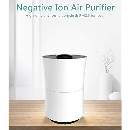 ELEOPTION Negative Ion Air Purifier for Home Bedroom Allergies and Pets Hair Smokers, HEPA Filter, 3D Cyclic…