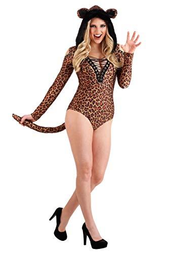 Women's Leopard Leotard Costume - L