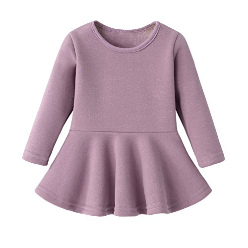 Hot Sale!!Woaills Cotton Cute Toddler Baby Girl Floral Tutu Long Sleeve Princess Dress 6-24M Baby Gray, 6M