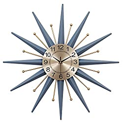 Handmade Wrought Iron Wall Clock, Nordic Style Home Decoration, Silent Art Clock, Suitable for Living Room, Entrance, Bedroom