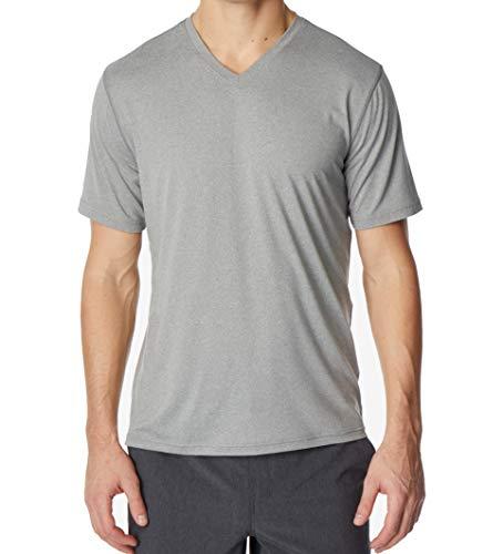 32 DEGREES Cool Mens Medium Casual Performance V Neck T-Shirt Gray M