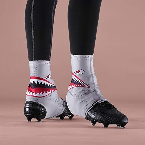 Metal Mens Football Cleat - War Shark Metal Spats/Cleat Covers