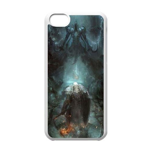 N5J44 Diablo H0P0GY cas d'coque iPhone de téléphone cellulaire 5c couvercle coque blanche KP1XOK6CK