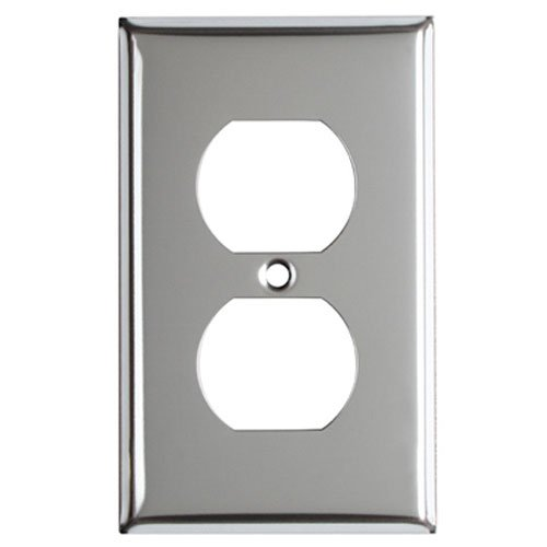 MULBERRY METALS 83101 CHR 1G DPLX Wall Plate,