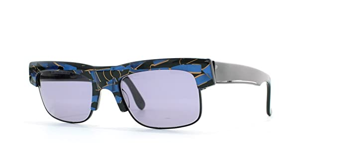 84608d601f Alain Mikli 88 621 898 Black Blue Rectangular Certified Vintage Sunglasses  For Mens