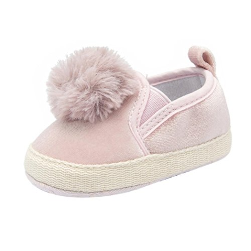 - LNGRY Shoes,Toddler Kids Baby Girls Boys Flock Ball Soft Sole Anti-Slip Moccasin Casual Crib Shoes (0-6 Months, Pink)