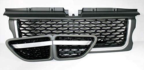 2005-2009 Zunsport Compatible avec Calandre Noir Brillante avec Grillage 3 pi/èces Noir pour Range Rover Sport L320