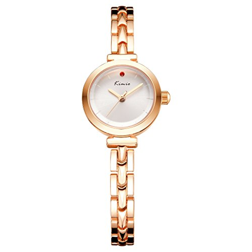 Quartz Movement Stainless Steel Bracelet - Tidoo Simple Style Wrist Watch Japaness Quartz Movement Stainless Steel Women Bracelet Watch Gold and White