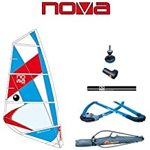 BIC Sport Nova Complete Windsurfing Rig, Red/White/Blue, 6.0 Square Meter
