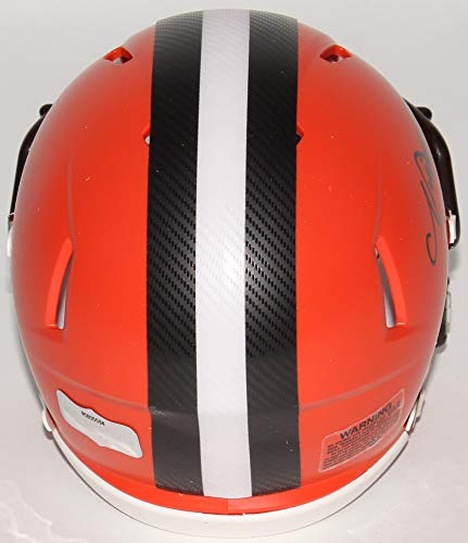 Nick Chubb Cleveland Browns Signed Autograph Speed Mini Helmet Radtke Sports Certified