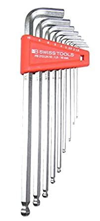 Pb Swiss Pb Lh   Piece Long Chrome Ball Point Hex Allen Key