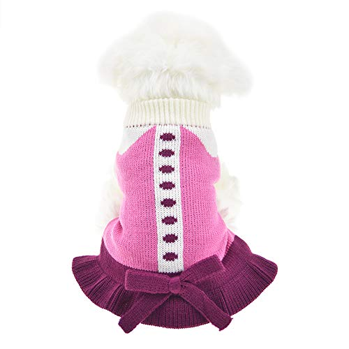 MUYAOPET Small Dog Sweaters Female Girl Pink Winter for sale  Delivered anywhere in USA