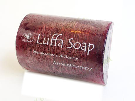 Hand-Made-Loofah-Sponge-Luffa-Soap-Bar-Soap-with-Loofah-Scrubber-Mangosteen-Honey-100g-Brightening-Your-Skin-Bar-Soap-for-Sensitive-Skin