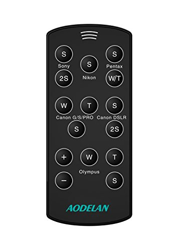 AODELN Wireless Remote Control Shutter Release for Canon, Nikon, Pentax, Olympus, SONY SLR/DSLR Cameras.Release RC-6,ML-L3,RM-1,RMT-DSLR2,O-RC1 Pentax Remote Battery