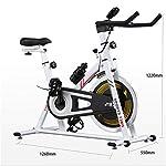 Indoor-Esercizio-aerobico-BiciCiclo-Fitness-Cardio-Workout-Machin-Spin-Bike-Color-White-Size-126x55x122cm