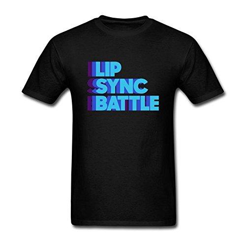 Uoolttr Mens Lip Sync Battle Logo T Shirt Black Xxl